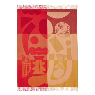 Abstract Shapes Lambswool Throw - Donna Wilson