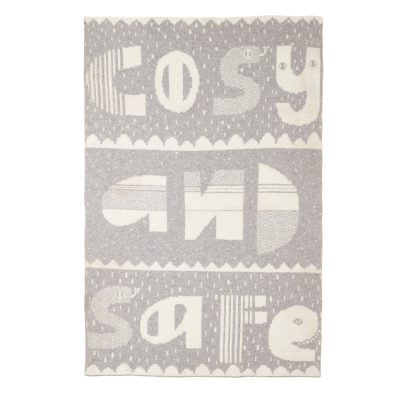 Donna Wilson Cosy Safe Mini Blanket Grey