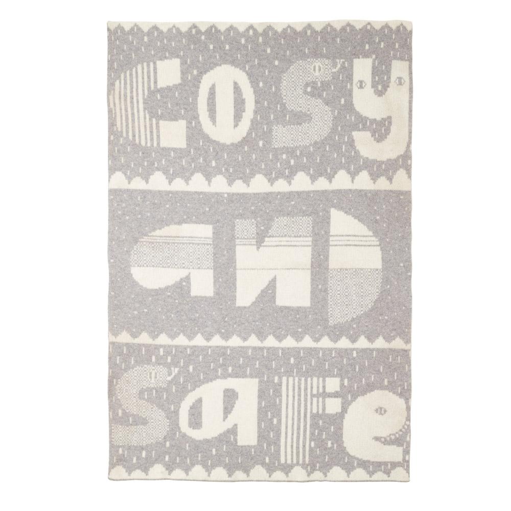 Donna Wilson Cosy Safe Mini Blanket Grey