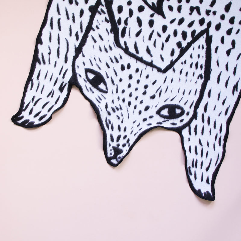 Wolf Shaped Cotton Mini Blanket - Donna Wilson
