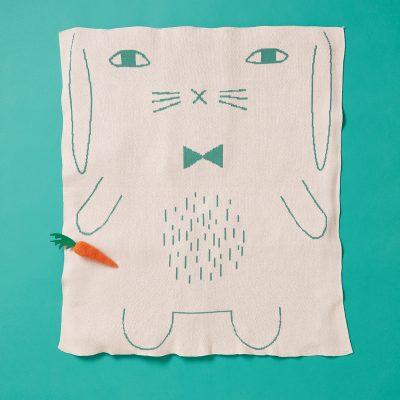 Donna Wilson - Rabbit Cotton Mini Blanket