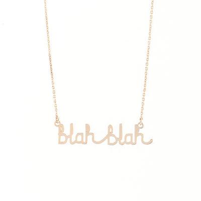 Blah Blah Necklace - Titlee x Donna Wilson