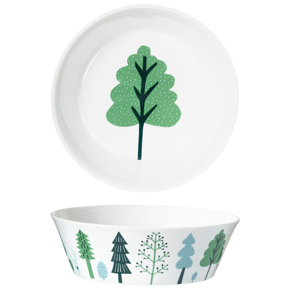 Bone china ceramics decorated glassware by donna wilson made in uk forest bowl large reviewsmspy