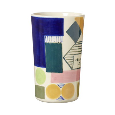 Ceramics - Kaleido Stoneware Vase - Front - Donna Wilson