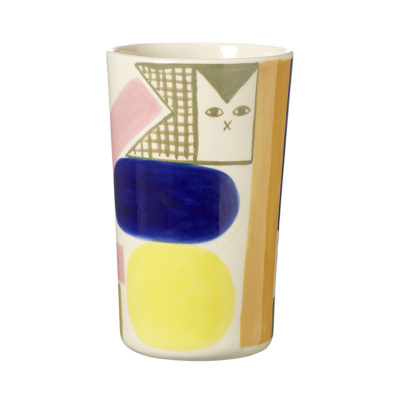 Ceramics - Kaleido Stoneware Vase - Reverse - Donna Wilson
