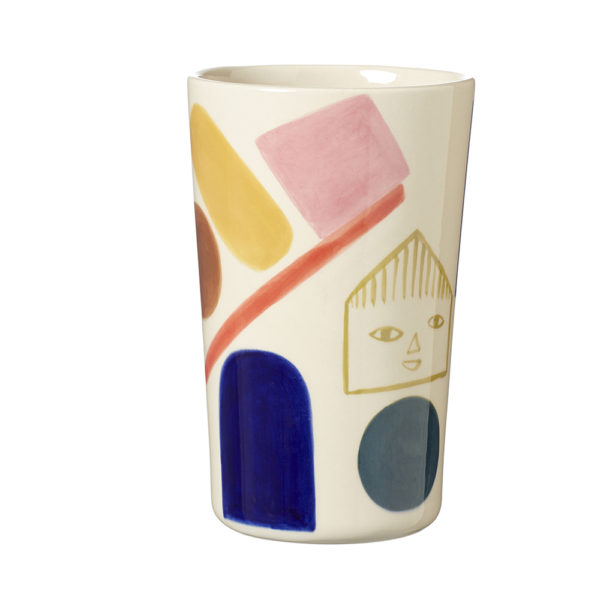 Ceramics - Sweet Treats Stoneware Vase - Front - Donna Wilson