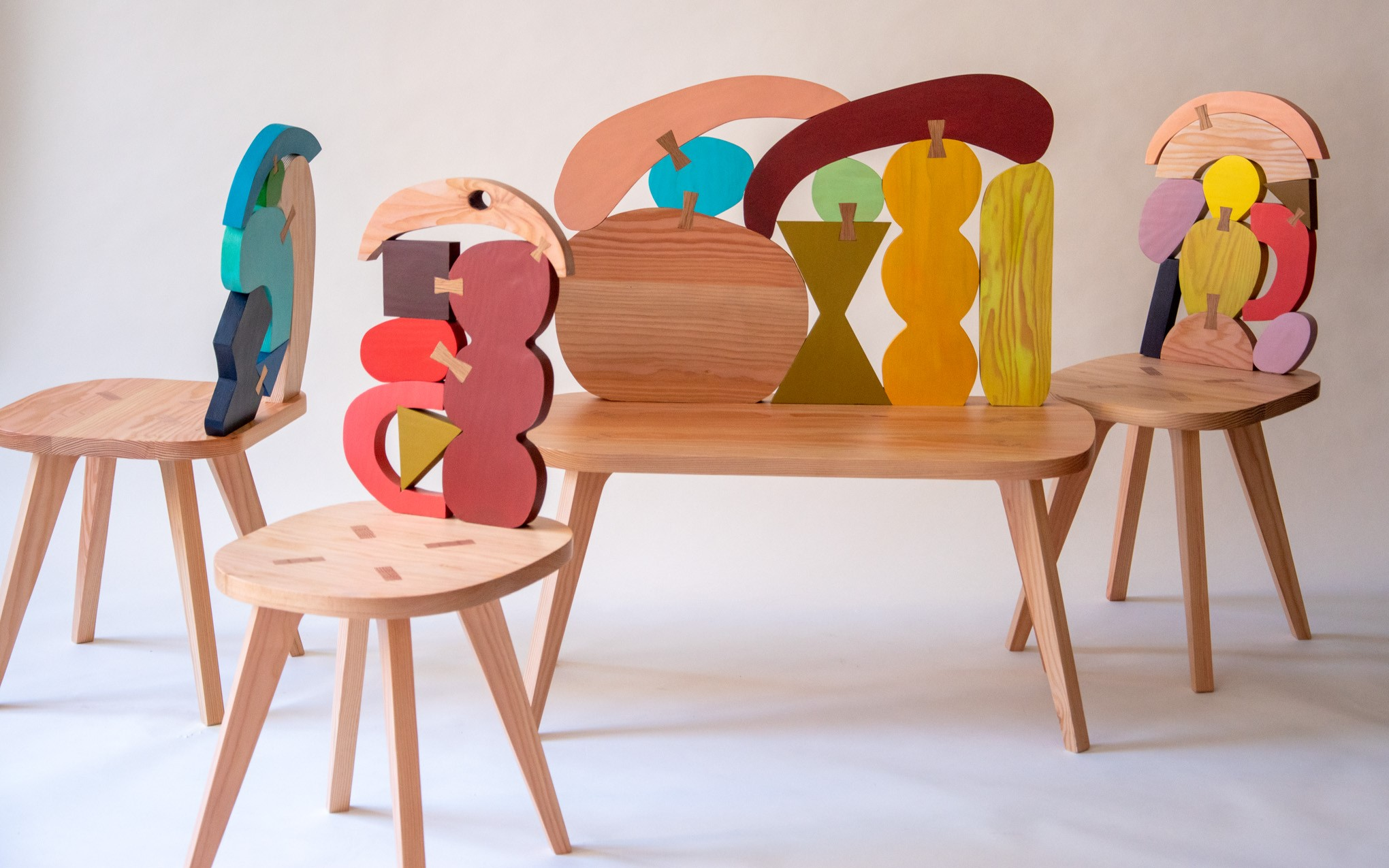 Abstract Assembly Bench - Donna Wilson padstyle