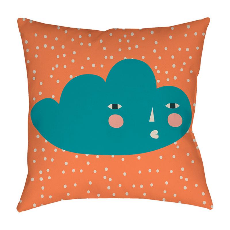 Donna Wilson Cloudy Face Cushion Orange