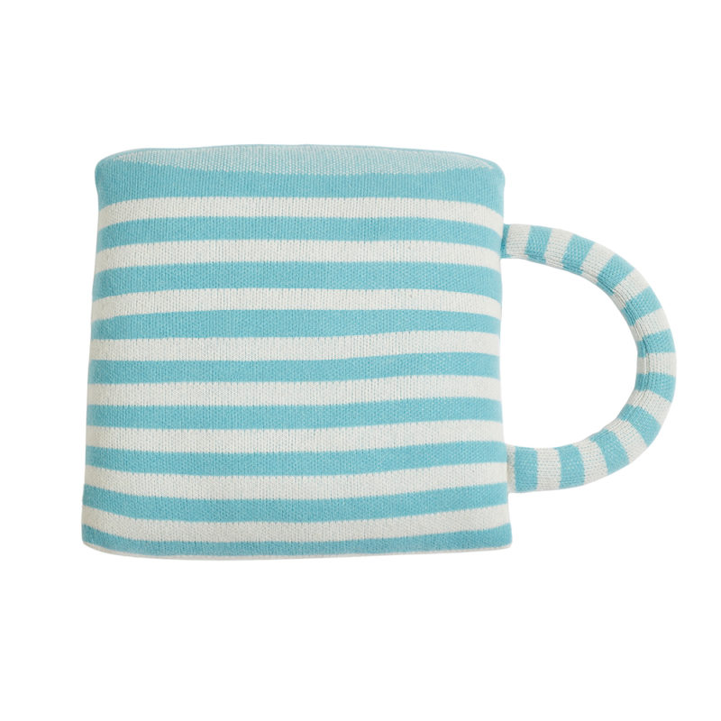 Coffee Cup Shaped Cushion - Reverse - Donna Wilson