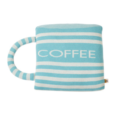 Coffee Cup Shaped Cushion - Donna Wilson