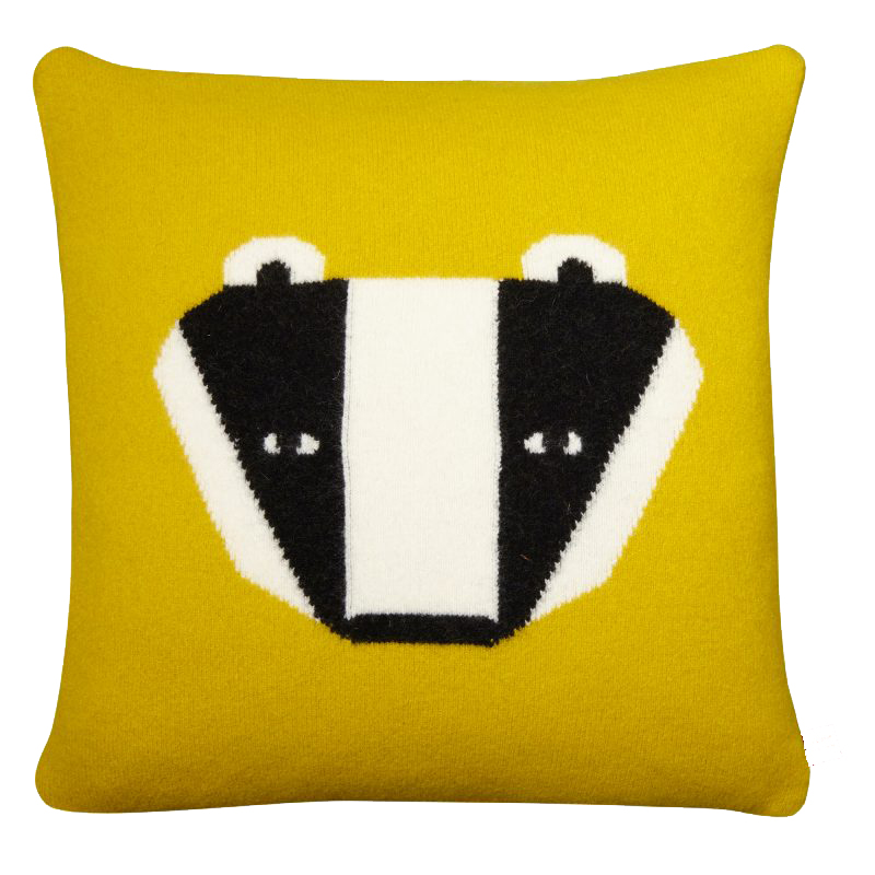 Badger Cushion - Mustard - Donna Wilson