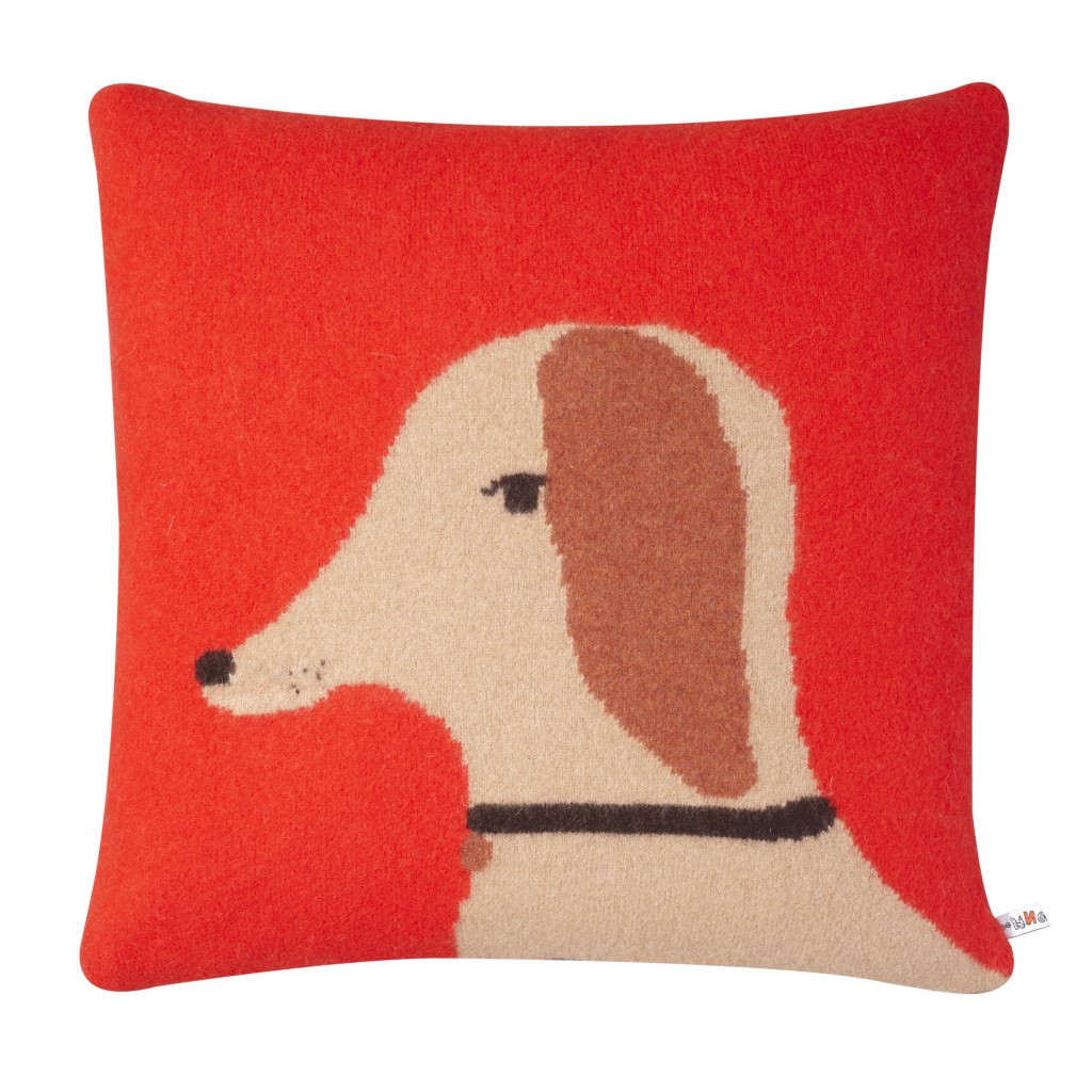 Cushion - Dog Red