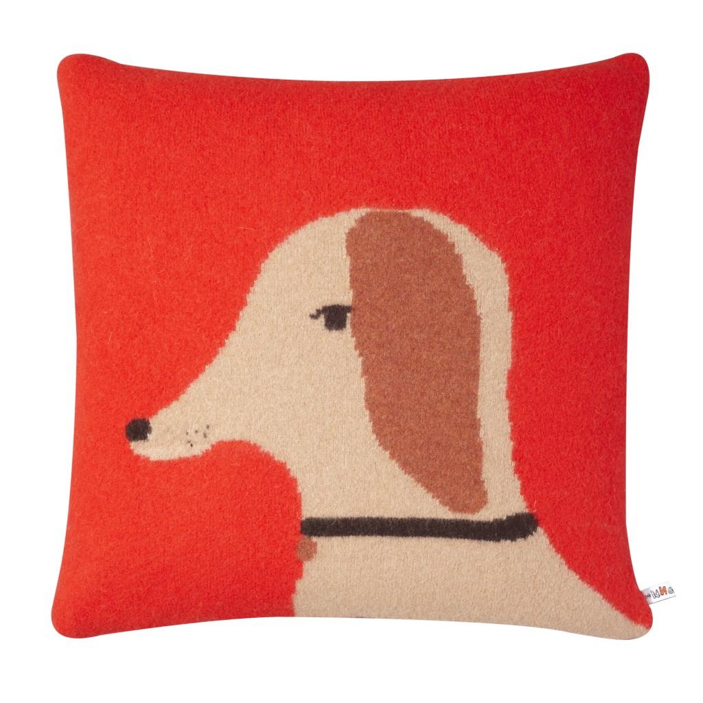 Cushion - Dog Red