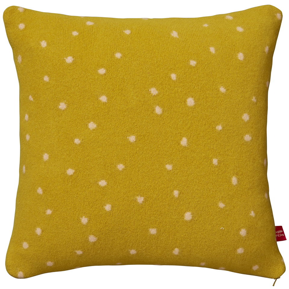 Cushion - Dotty Cushion - Mustard