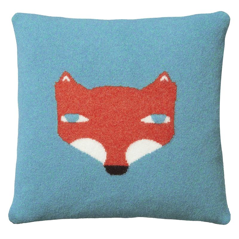 Fox Cushion - Blue - Donna Wilson