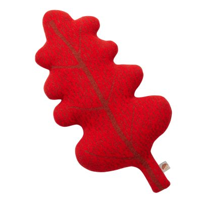 Leaf Shaped Cushion - Red - Donna Wilson