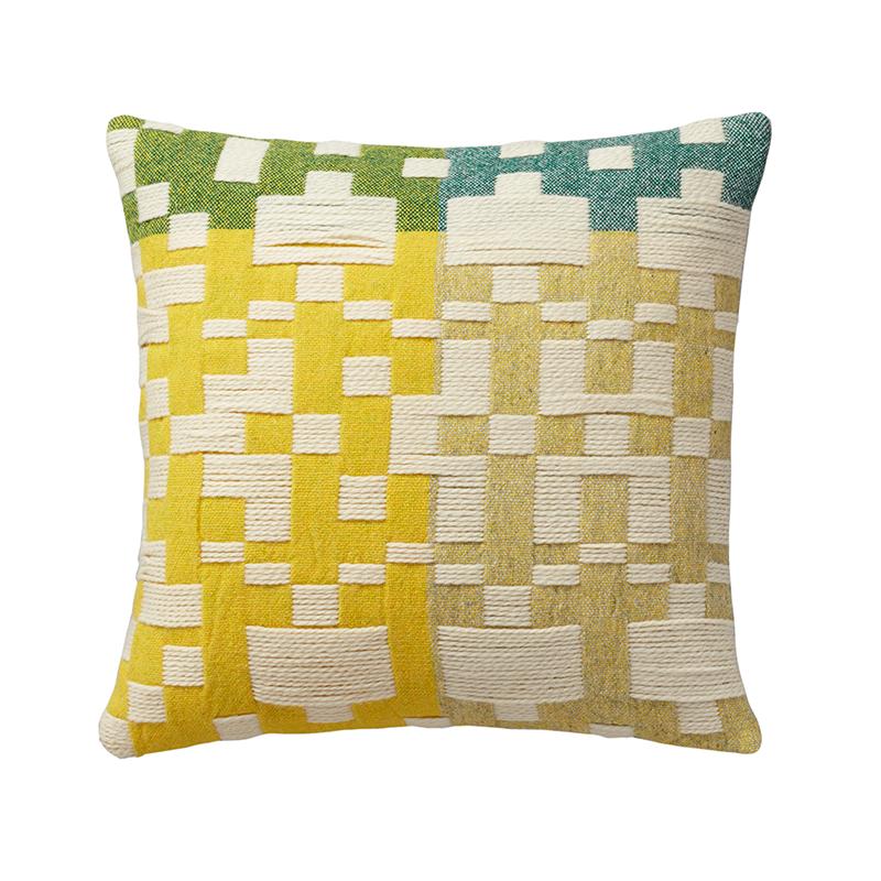 Donna Wilson Pennan Cushion Green Yellow