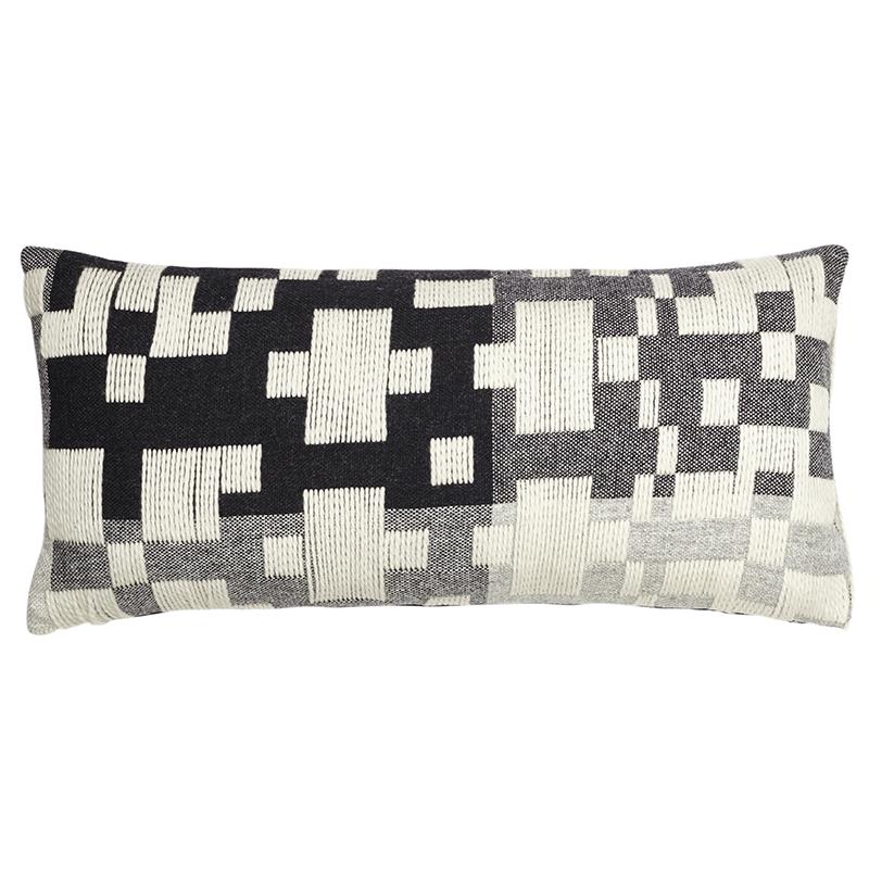 Donna Wilson Pennan Long Cushion Black/White
