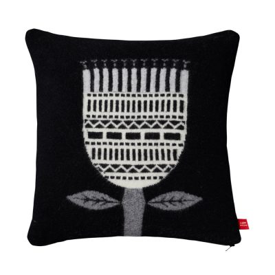 Donna Wilson Flower Cushion Black
