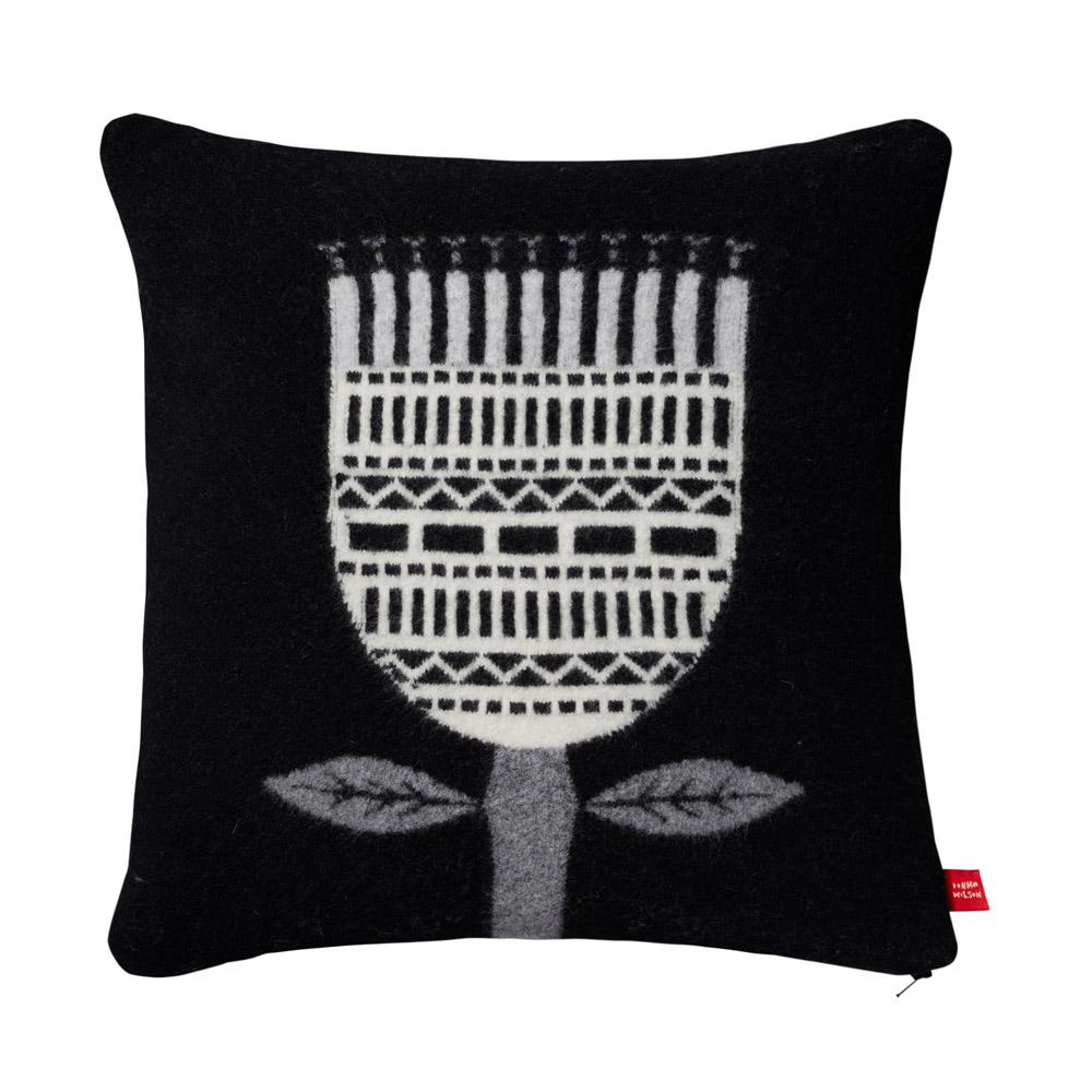 Donna Wilson Flower Cushion Black