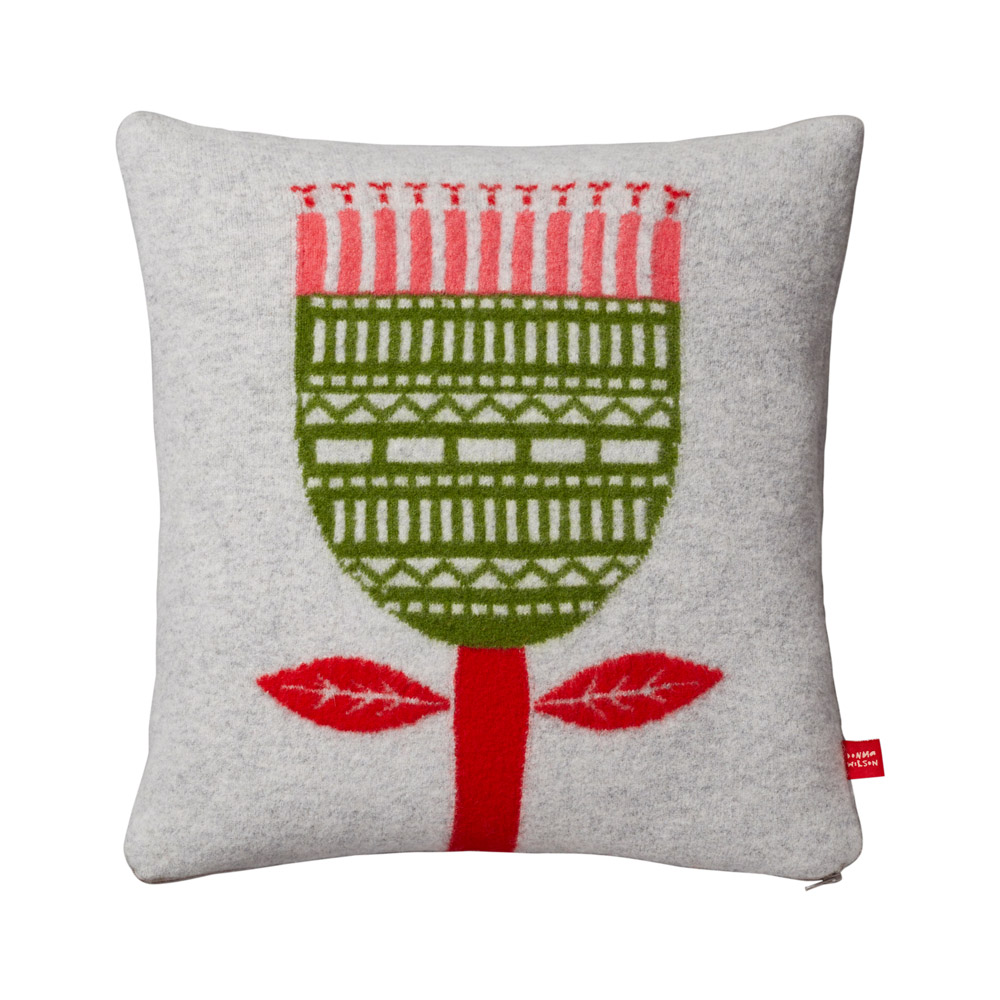 Donna Wilson Flower Cushion Grey