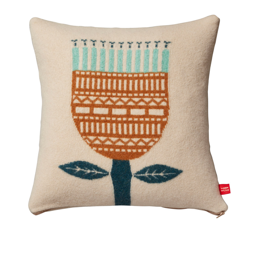 Donna Wilson Flower Cushion Oatmeal