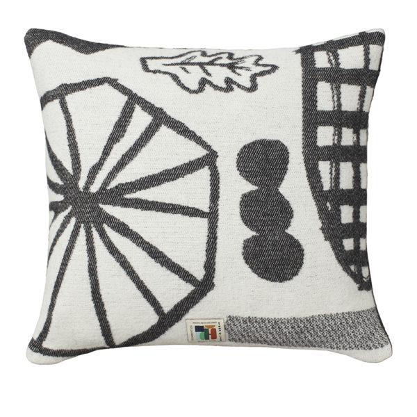 Forager Cushion Black - Reverse - Donna Wilson