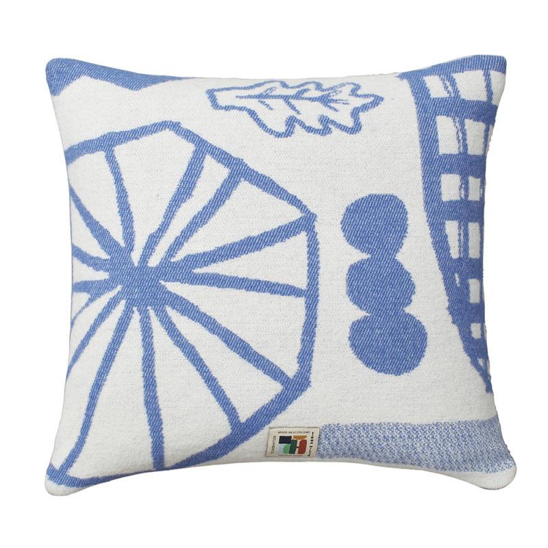 Forager Cushion Blue - Reverse - Donna Wilson