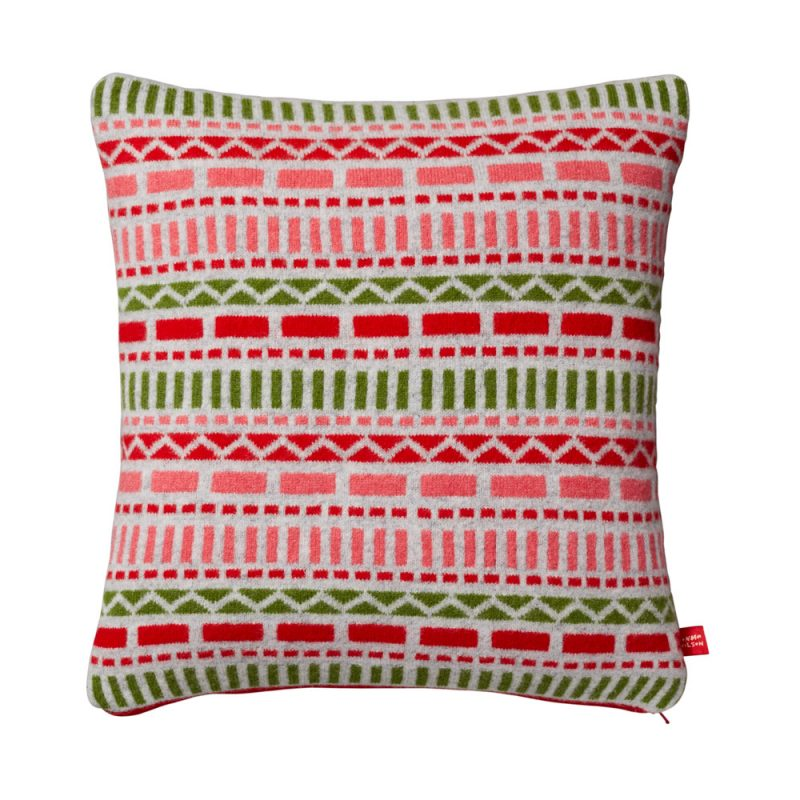 Donna Wilson Geometric Cushion Pink