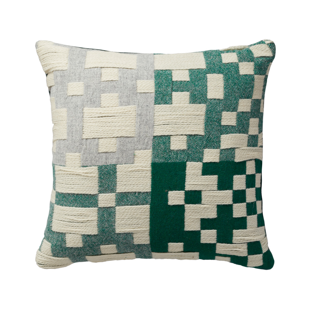 Pennan Cushion Green And Yellow By Donna Wilson Woven