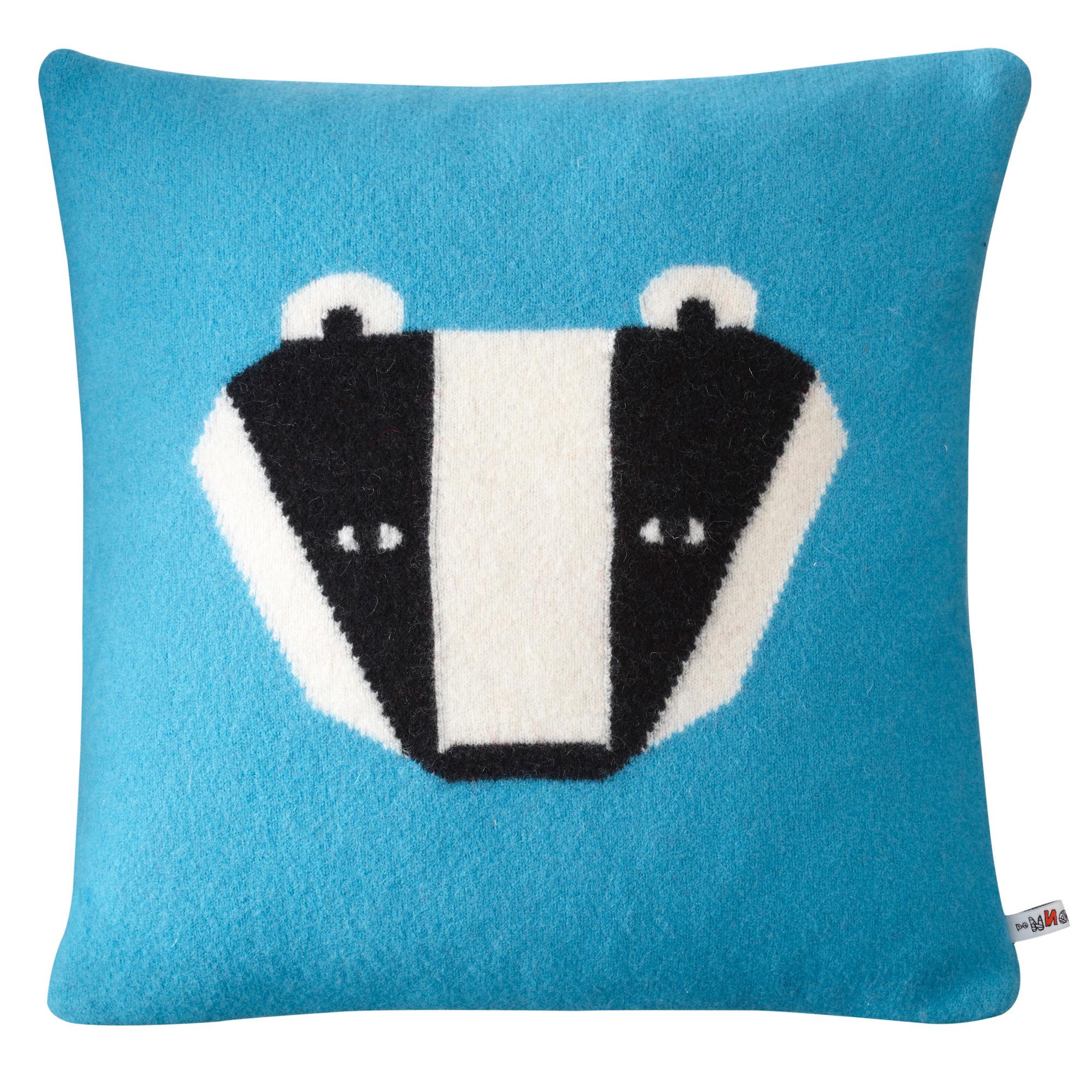 badger cushion blue donna wilson