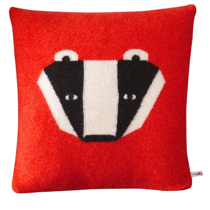 Donna Wilson Badger Cushion Red