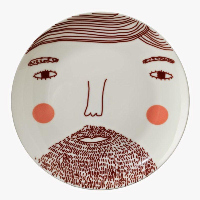 Beardy Man Plate 20cm