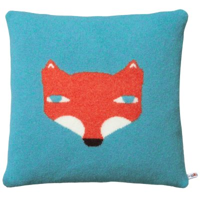 Donna Wilson Fox Cushion Blue