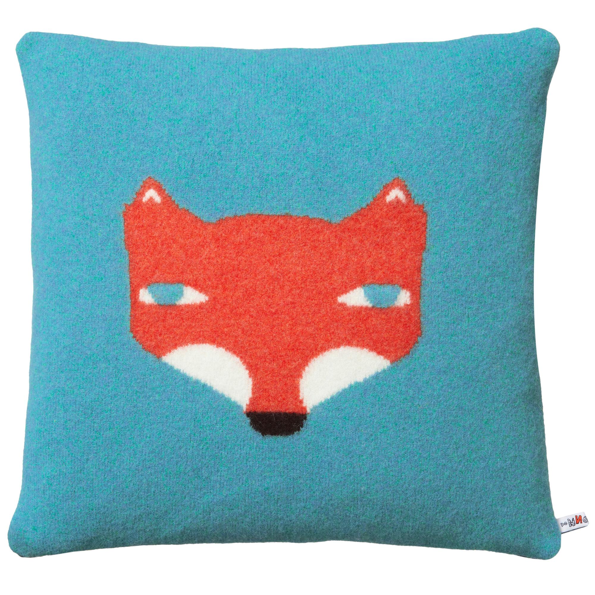 Donna Wilson Fox Cushion Blue