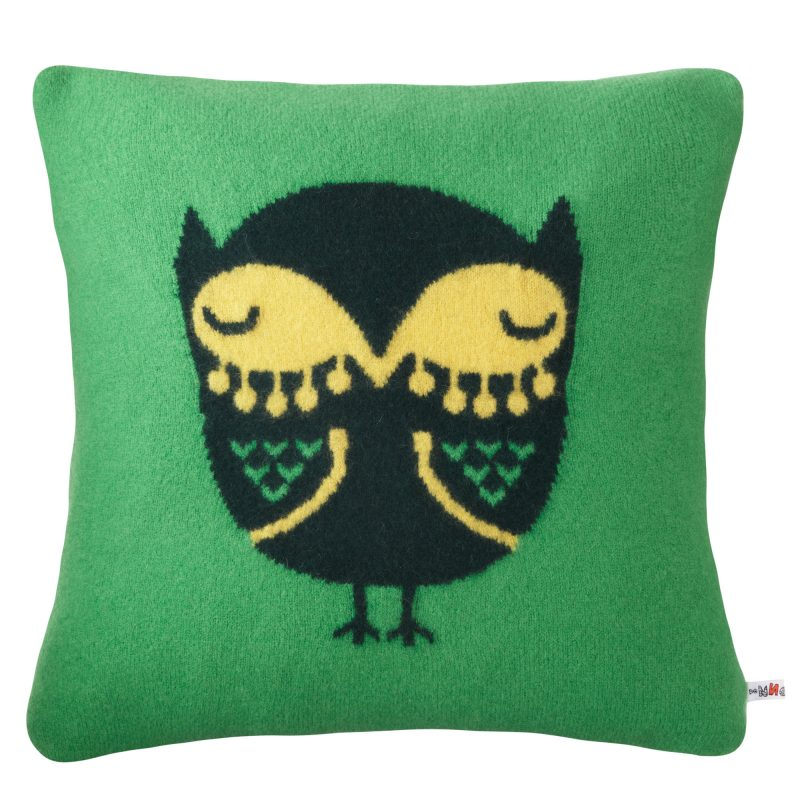 Donna Wilson Owl Cushion Green