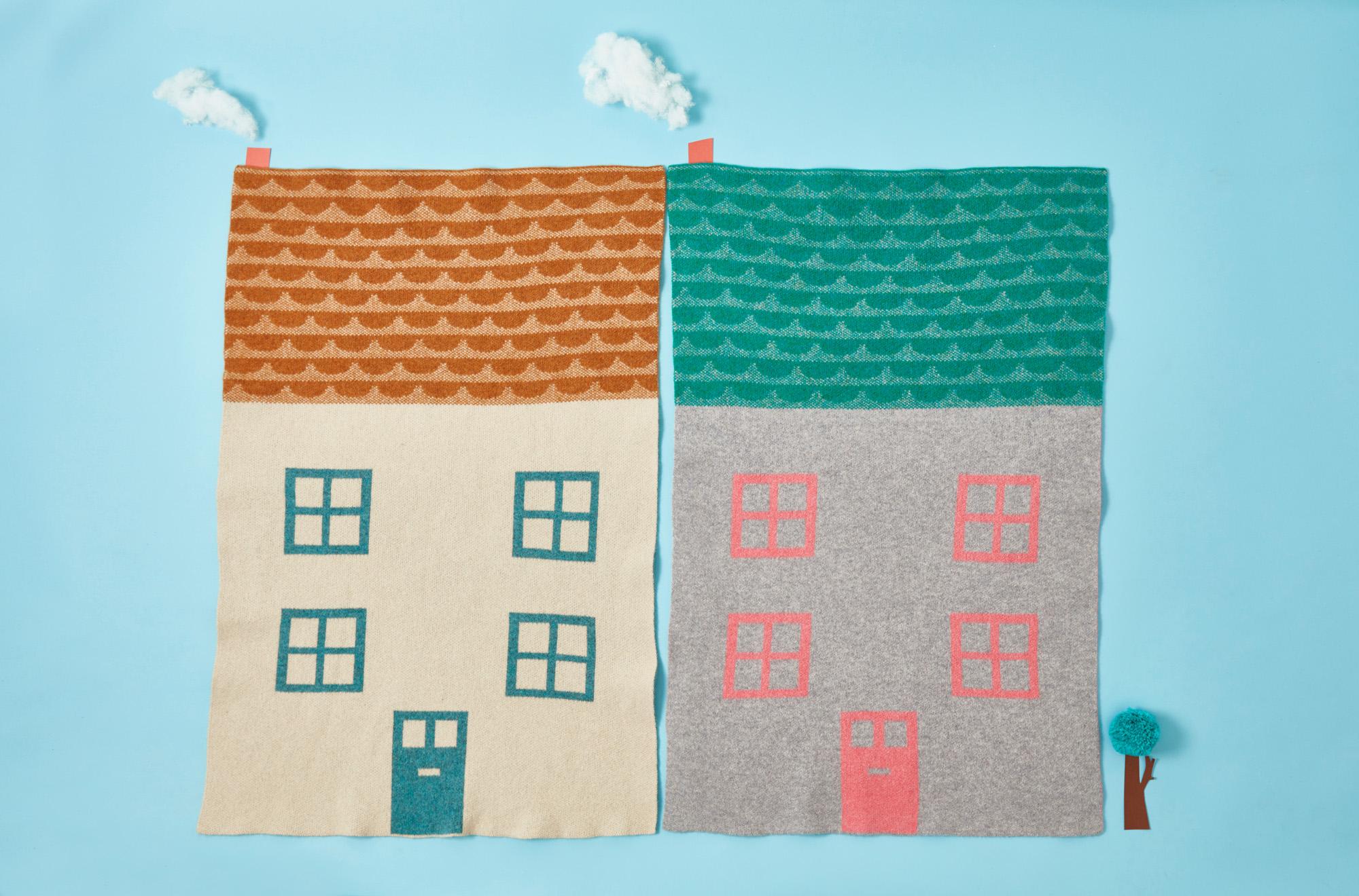 House Mini Blanket Donna Wilson