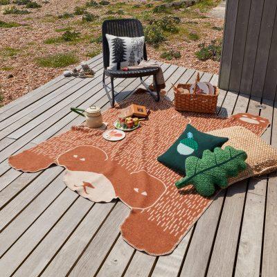 Donna Wilson - Bear Shaped Blanket + Acorn Cushion + Leaf Shaped Cushion