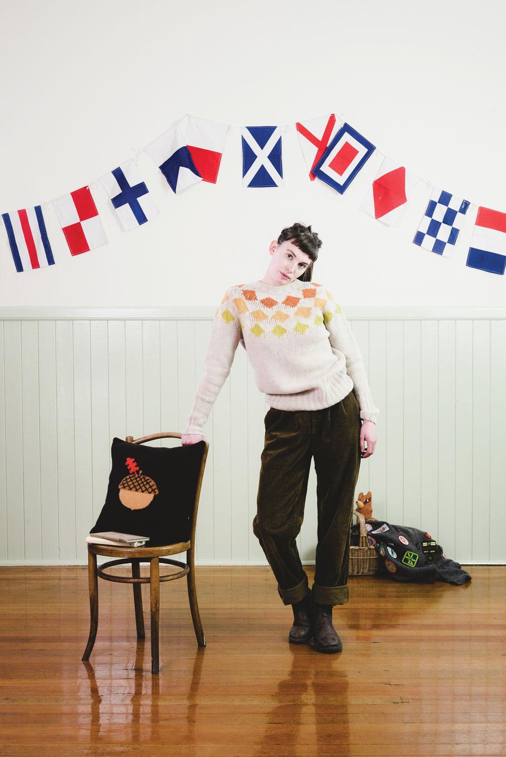 Harlequin Sweater Mustard Donna Wilson