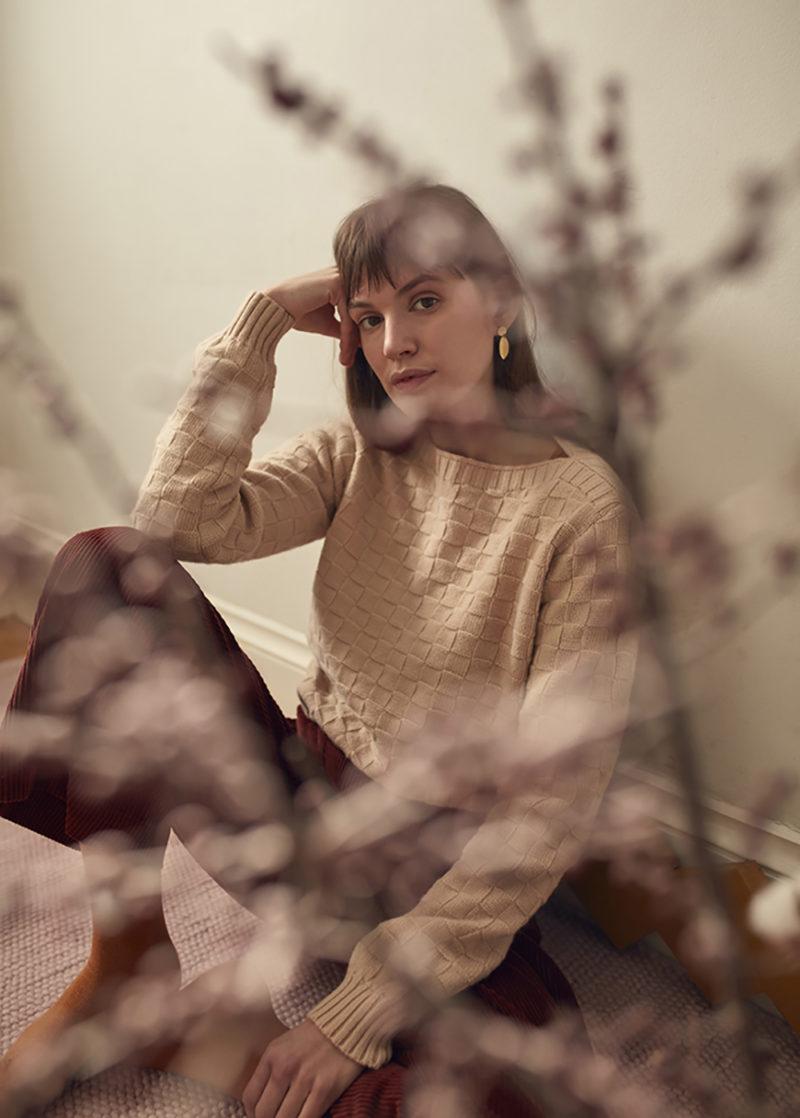 Basket Weave Sweater - Natural - Donna Wilson