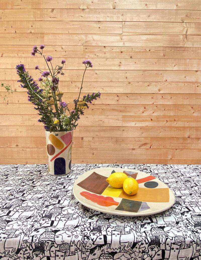 Donna Wilson AW20 - Bow + Oval Platter + Sweet Treats Vase