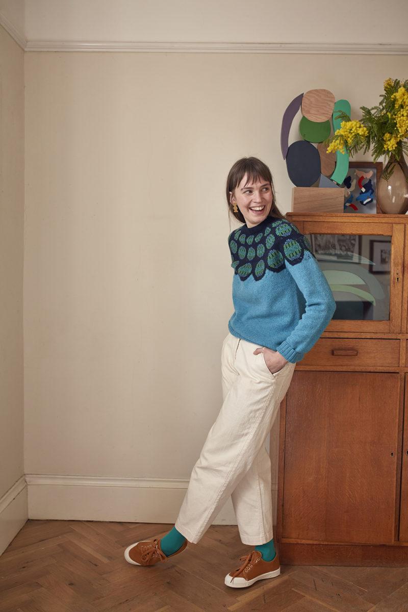 Donna Wilson AW20 - Garland Sweater - Blue