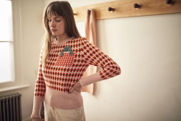 Highland Peep Sweater - Pink - Donna Wilson