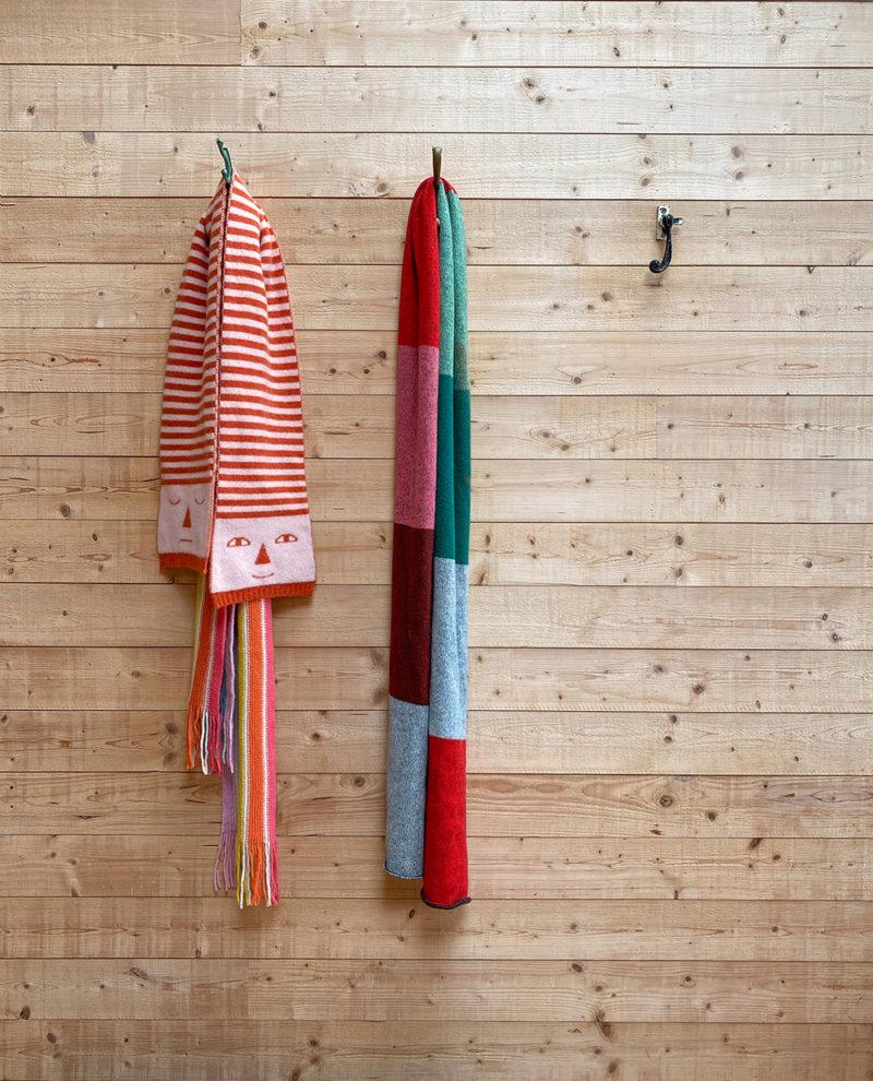 Donna Wilson AW20 - Stripy Head, Rainbow + Colour Block Scarves