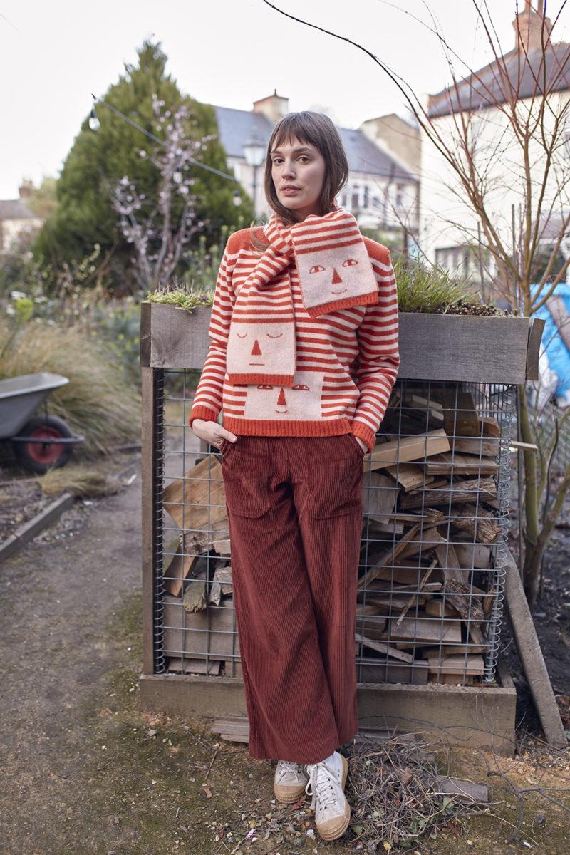 Donna Wilson AW20 - Stripy Head Sweater & Scarf
