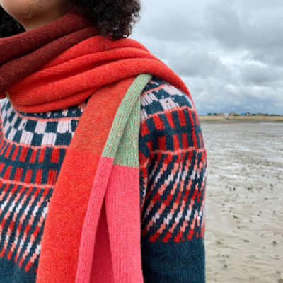Donna Wilson AW20 - Sunburst Sweater + Colour Block Scarf 1