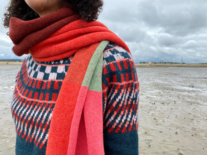 Donna Wilson AW20 - Sunburst Sweater + Colour Block Scarf 1