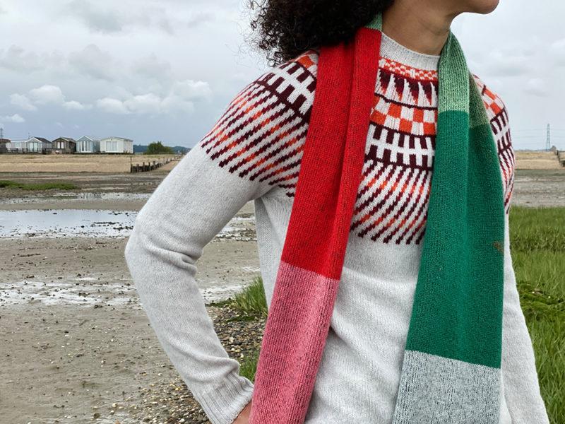Donna Wilson AW20 - Sunburst Sweater + Colour Block Scarf - Forest