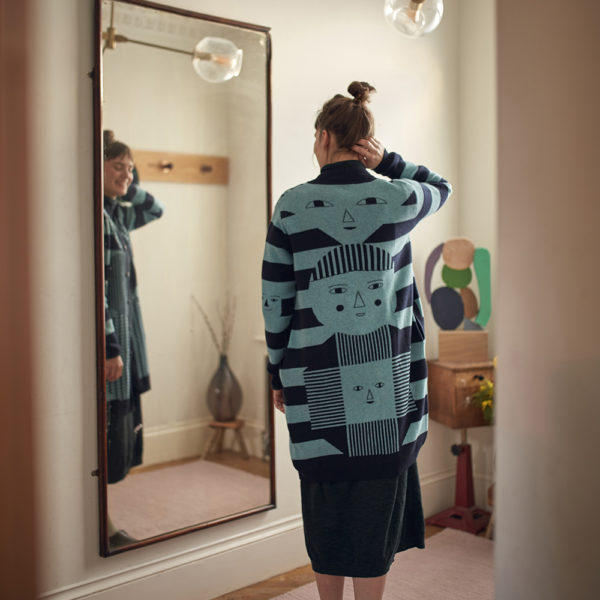 Donna Wilson AW20 - Totem Cardigan - Blue & Navy