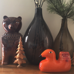 NEW! SCP Earthenware Bear and Bird